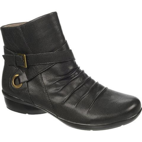 Naturalizer Women's Cycle Boot Black Bali Goat Leather