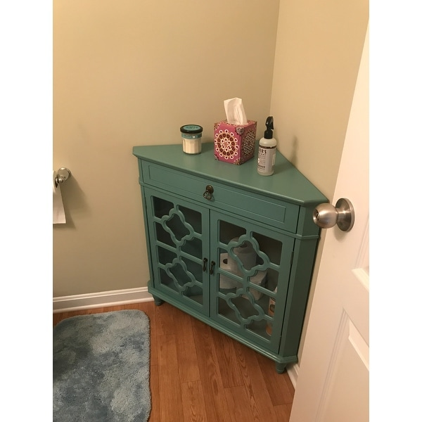 Shop Heather Ann Heirloom Style One (1) Drawer Corner Accent Cabinet   Free  Shipping Today   Overstock.com   10763545