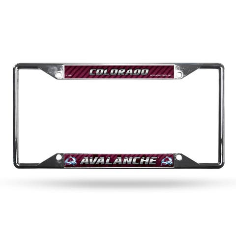 Colorado Avalanche License Plate Frame Chrome EZ View