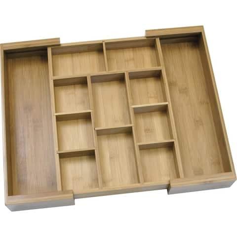 Lipper 8882 bamboo drawer organizer 6pc