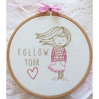 """8""""X8"""" - Tamar Follow Your Heart Embroidery Kit"""