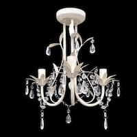 "vidaXL Chandelier White 12""x14"""
