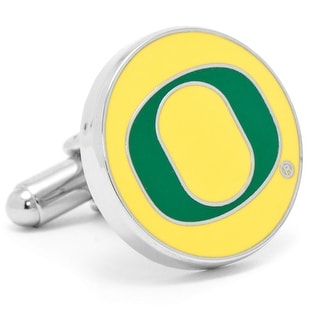 Silver Plated University of Oregon Ducks Cufflinks