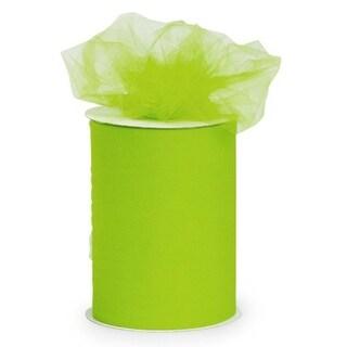 "Designer Lime Green Tulle Craft Ribbon 3"" x 550 Yards"