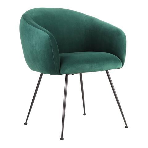 Aurelle Home Modern Velvert Plush Upholstered Dining Chair
