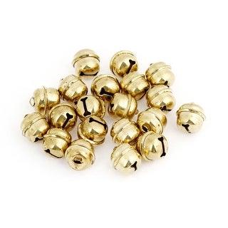 Unique Bargains 20 Pcs Christmas Tree Party Decor 8mm Metal Ring Bells Gold Tone