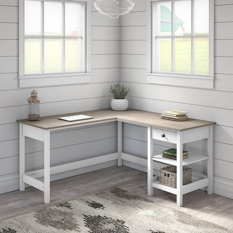 The Gray Barn Orchid Gulch L-shaped Storage Computer Desk