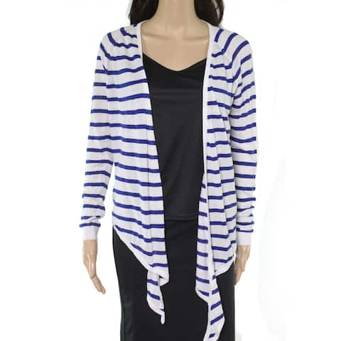 Lauren By Ralph Lauren Women Sweater Blue Size Medium M Cardigan Striped