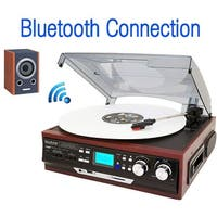 Boytone BT-37M-C Bluetooth 3-Speed Stereo Turntable, Wireless Connect to Devices speaker(Bluetooth out transfer)