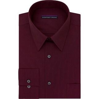 Geoffrey Beene Mens Big & Tall Dress Shirt Pinstriped Wrinkle Free