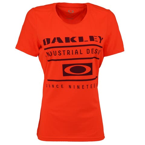 Oakley Women's Industrial Design T-Shirt - Neon Orange/Purple