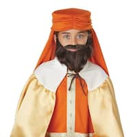 Boys Brown Wise Man Beard and Moustache - standard - one size