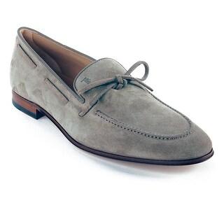 Tod's Men's Suede Loafer Mocassins Shoes Beige