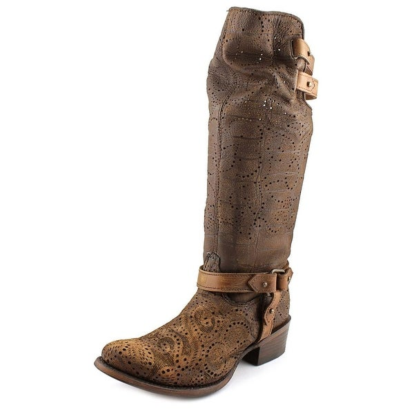 Corral C0039 Women Pointed Toe Leather Brown Western Boot