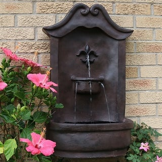 Sunnydaze Flower Solar Wall Fountain - Multiple Colors
