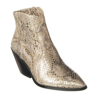 Link to Vince Camuto Jemeila Python-Embossed Leather Bootie Similar Items in Suits & Suit Separates