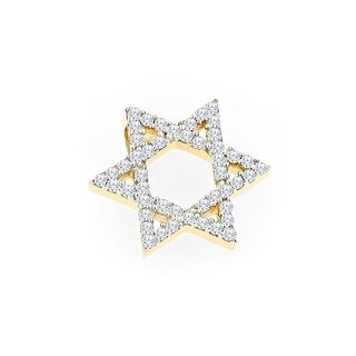 Link to Luxurman 14k Gold 1/2ct TDW Diamond Star of David Pendant (H-I, SI1-SI2) Similar Items in Wedding Rings