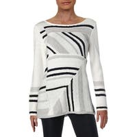 Nic + Zoe Womens Pullover Sweater Knit Patchwork