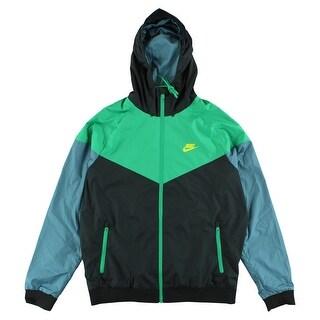 Nike Mens Windrunner Jacket Black - black/green/blue