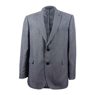 Tommy Hilfiger Men's Classic-Fit Multicolor Checked Sport Coat (46R, Grey/Blue) - Grey/Blue - 46r