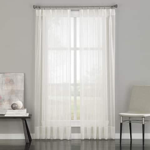Soho Sheer Pinch Pleat/Back Tab Single Curtain Panel
