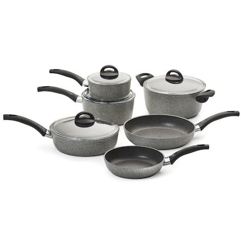 Ballarini Parma Forged Aluminum 10-pc Nonstick Cookware Set - Granite
