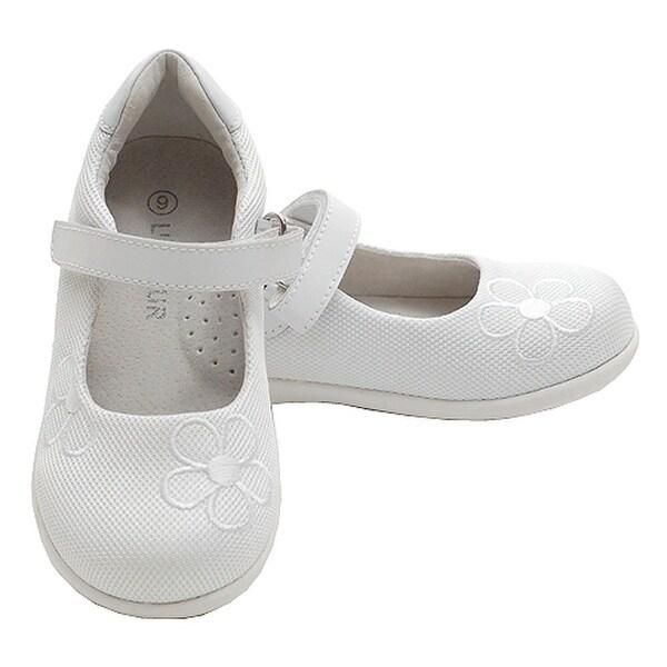 Shop Toddler Little Girl White Mesh Flower Mary Jane Hook