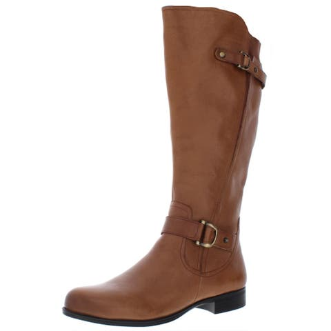 Naturalizer Womens Jillian Riding Boots Leather Wide Calf