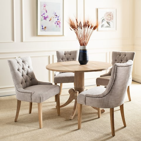 """Safavieh Dining Abby Viscose Blend Dining Chairs (Set of 2) - 22""""x23.8""""x36.4"""""""