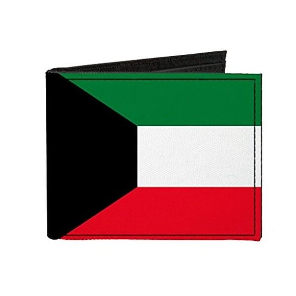 Buckle-Down Canvas Bi-fold Wallet - Kuwait Flag Accessory