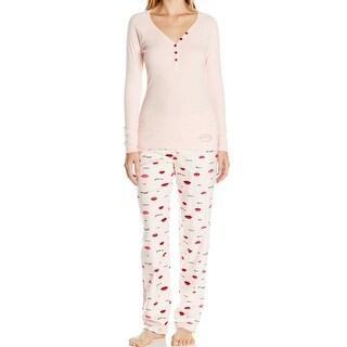Betsey Johnson NEW Pink Womens Size Small S Pajama Sets Sleepwear