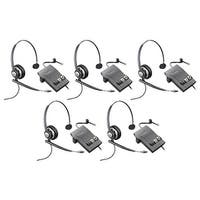 Plantronics Encore Pro HW710 with M22 (5-Pack) Monaural Noise-Cancelling Headset