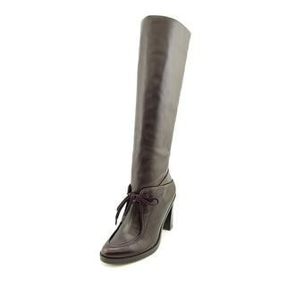 Derek Lam Meredith Women Round Toe Leather Purple Knee High Boot