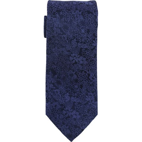 Michael Kors Mens Tonal Outlined Self-Tied Necktie - One Size
