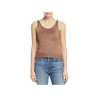 Vince Womens Tank Top Silk Sweater Knit