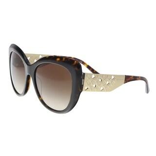 Bulgari BV8198B 544113 Dark Havana Butterfly Sunglasses - 57-18-140