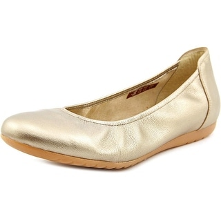 Sabrinas London V16 Women Round Toe Leather Gold Flats