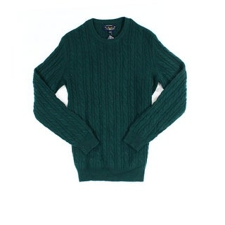 Club Room NEW Green Mens Size XL Pull-Over Crewneck Cashmere Sweater