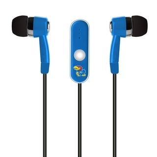 Mizco Kansas Jayhawks Stereo Hands Free Earbud - NCAA-STHF-KS