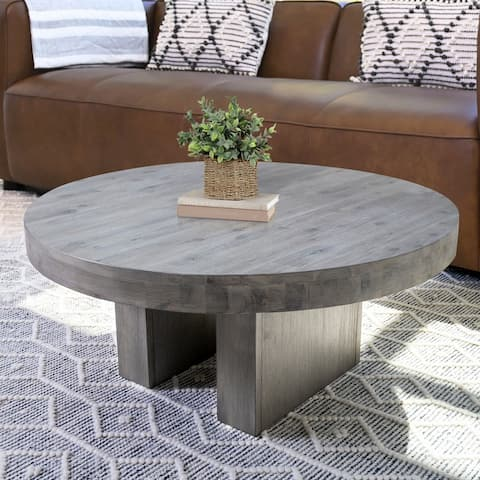 Abbyson Felix Round Coffee Table