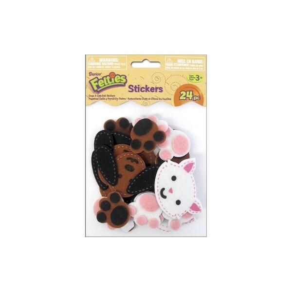 Darice Felties Sticker Stitched Dogs/Cats 24pc