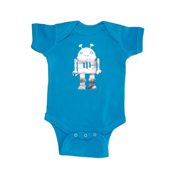 Fanciful Foil Printed Bodysuit for Baby Boys