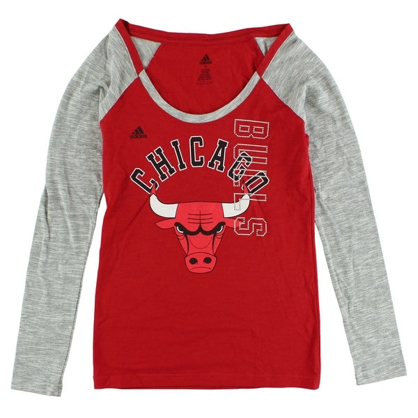 Shop Adidas Womens Chicago Bulls Team Liquid Shirt Red - red black gray -  Free Shipping On Orders Over  45 - Overstock - 22642277 b1d59cec94