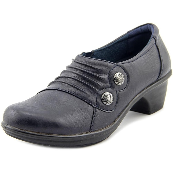 Easy Street Edison Women W Round Toe Synthetic Blue Loafer