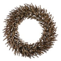 "30"" Sparkling Chocolate Brown Artificial Christmas Wreath - Unlit"