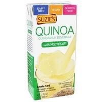 Suzie's Quinoa Milk Beverage - Unsweetened - Case of 6 - 33.8 Fl oz.