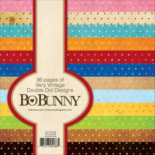 "BoBunny Double Dot Paper Pad 6""X6"" 36/Pkg-Very Vintage"
