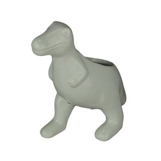 Link to White Ceramic Tyrannosaurus Rex Dinosaur Jurassic Decor Planter - 7.25 X 6.25 X 3.25 inches Similar Items in Planters, Hangers & Stands