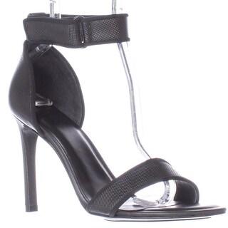 A7EIJE Jask Ankle Strap Sandals - Black Micro Dot
