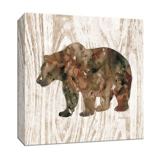 "PTM Images 9-147390  PTM Canvas Collection 12"" x 12"" - ""Pine Forest Bear"" Giclee Bears Art Print on Canvas"